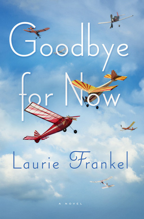 Book cover for Goodbye For Now with model airplanes against a partly cloudy sky
