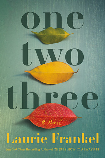 Book cover for One Two Three with three leaves, one green, one yellow, one red